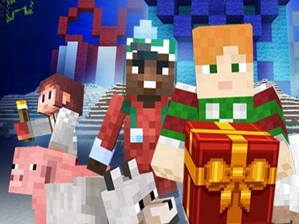 Minecraft Christmas skins