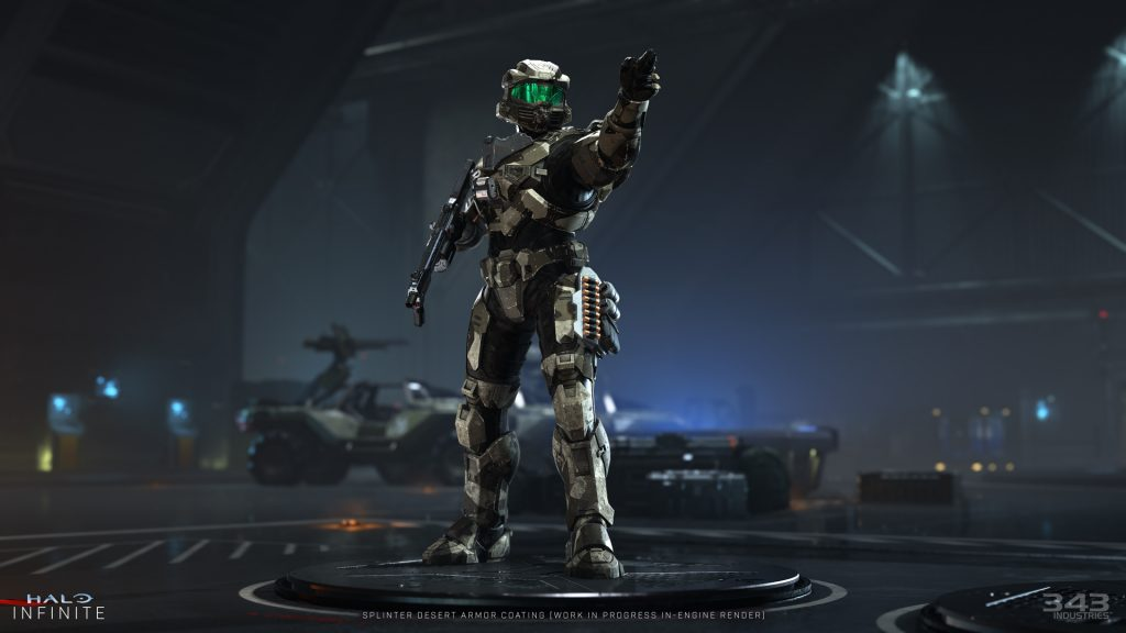 Halo infinite video game on xbox one and xbox series x.