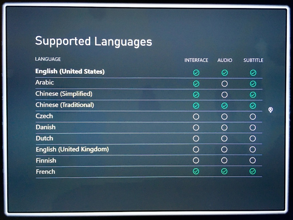 Supported Languages On Xbox Store