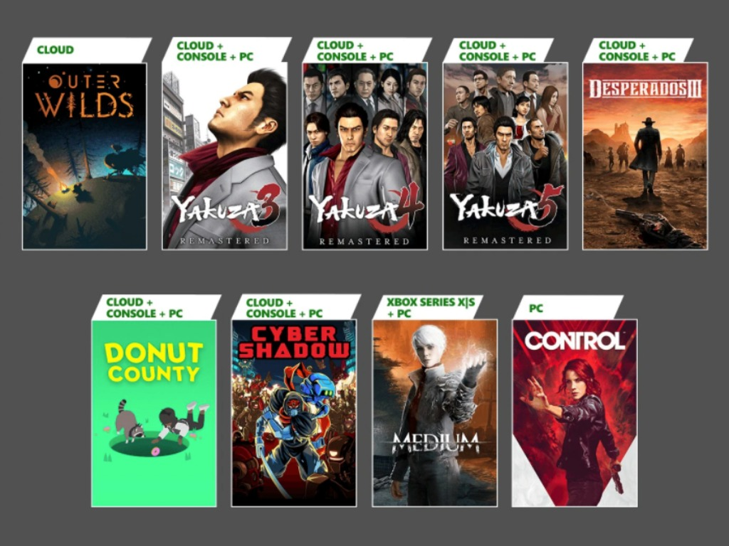 Xbox Game Pass Adds Control, The Medium, and More Yakuza in January