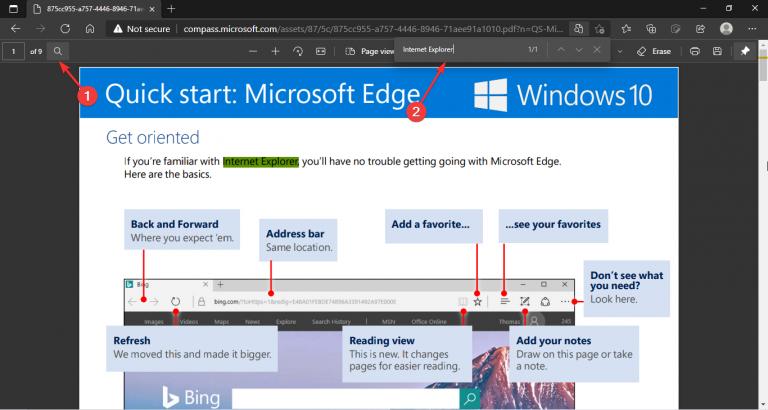 Microsoft edge search icon pdf