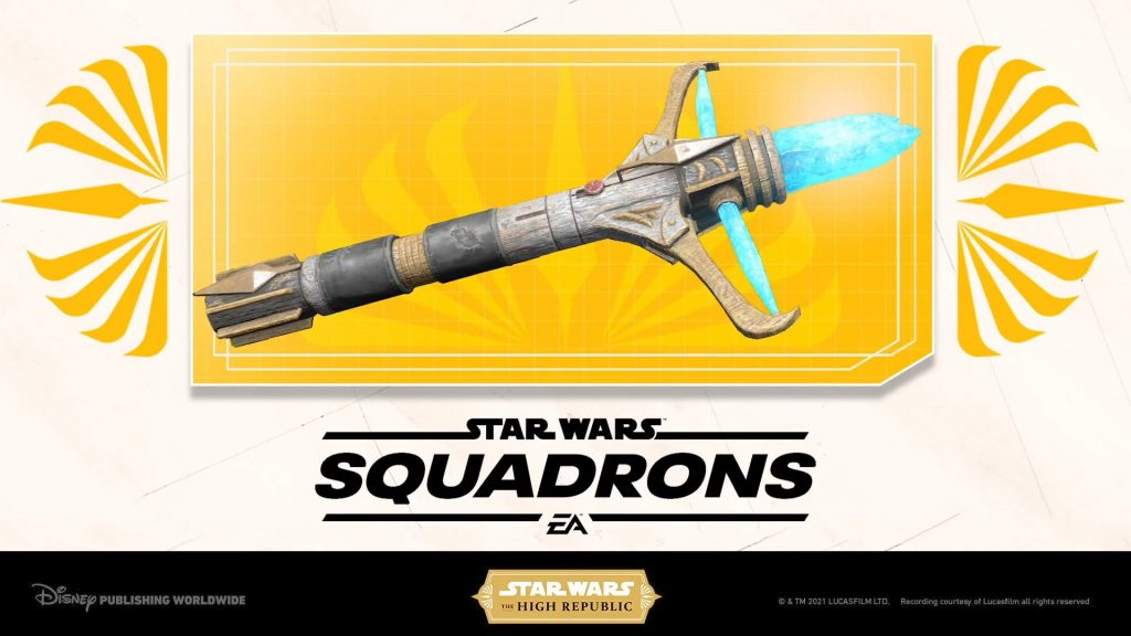 The High Republic lightsaber in Star Wars Squadrons video game on Xbox One and Xbox Series X
