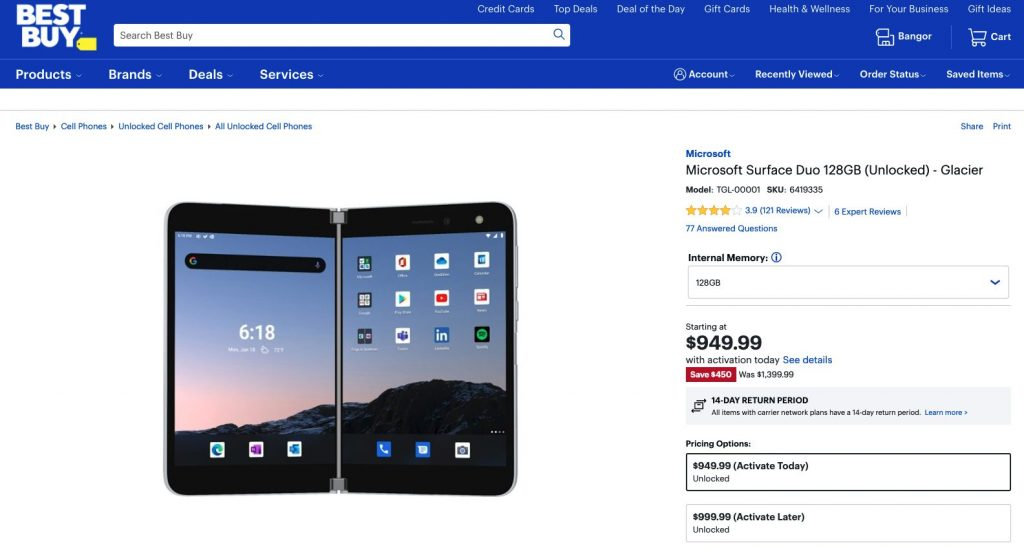 Best buy surface duo deal february 2021