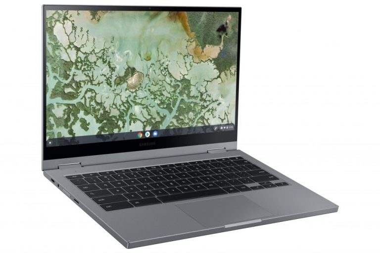 Galaxy Chromebook 2 L Perspective2 Gray