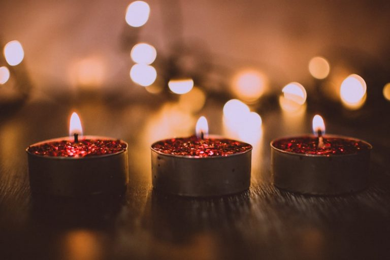 Glitter candles valentines day teams backgounds