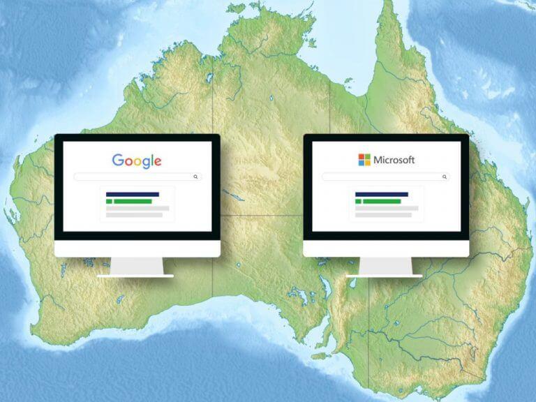 Google v. Bing australia cropped