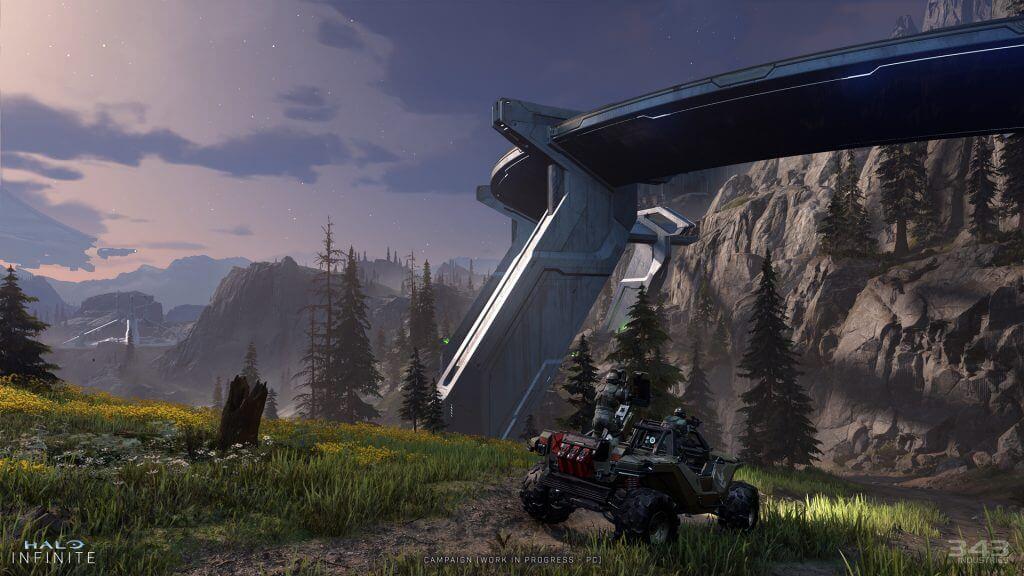 Halo Infinite Campaign Zeta Halo With Warthog