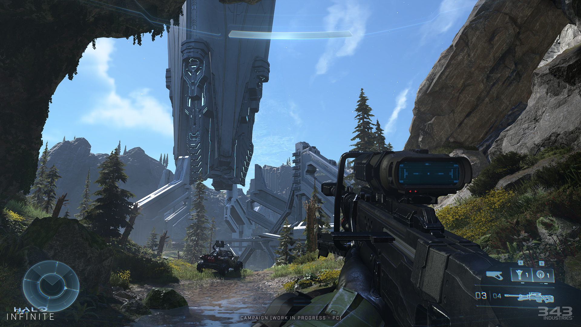 Halo Infinite Hud With Sniper