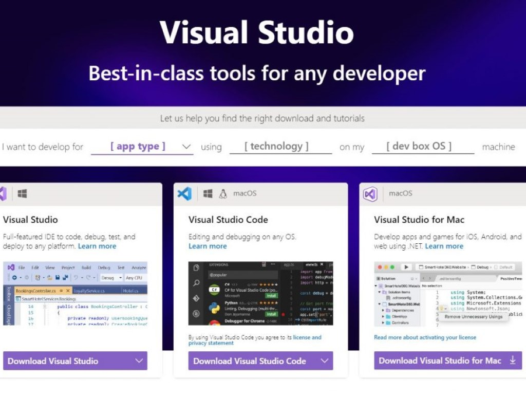 Visual Studio Tool Selector 1