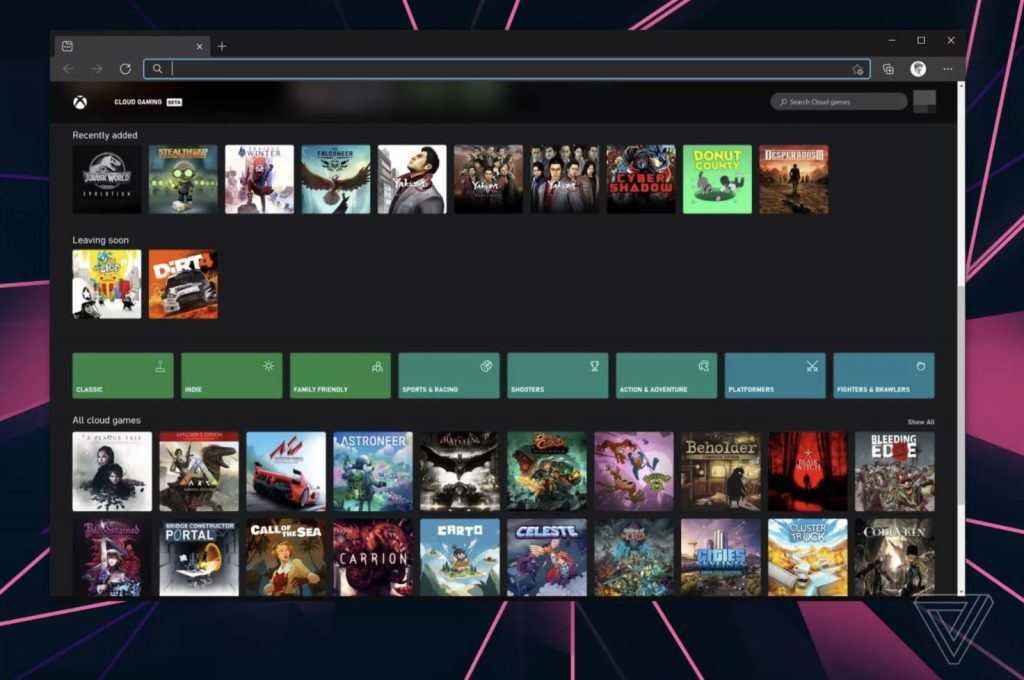 Xbox Cloud Gaming On The Web