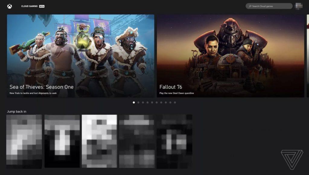 Xbox Cloud Gaming Web App