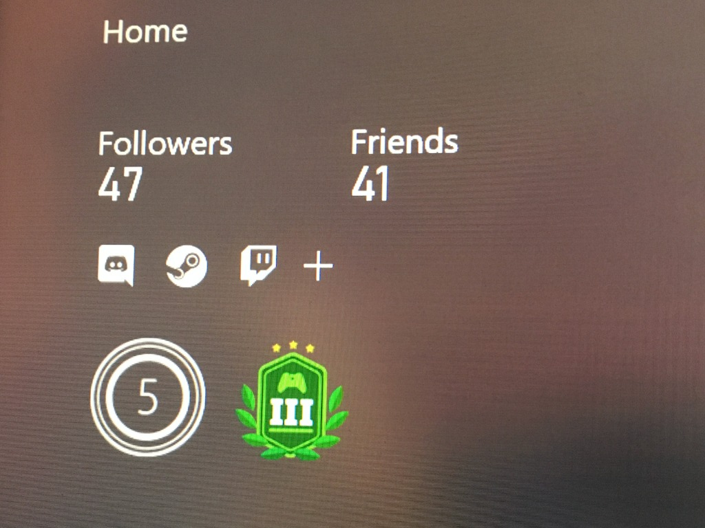 Xbox Profile Linked Account