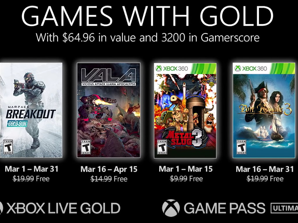 Games With Gold March 2021