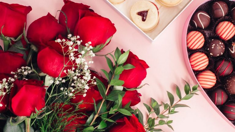 Vday roses cookies virtual valentines day teams backgounds