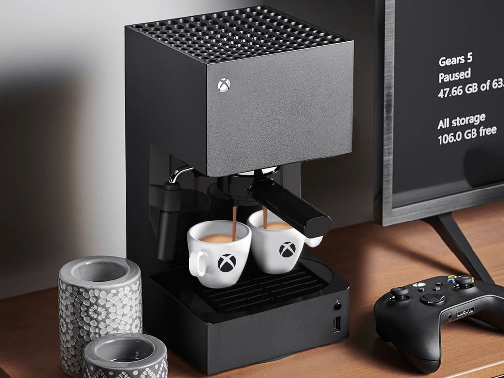 Xbox Series X console espresso machine concept