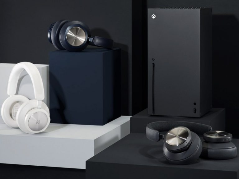 Bang & Olufsen Beoplay Portal Next To Xbox Series X