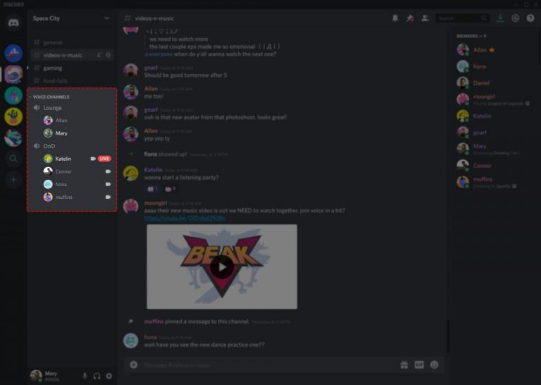 Discord Voice Channel