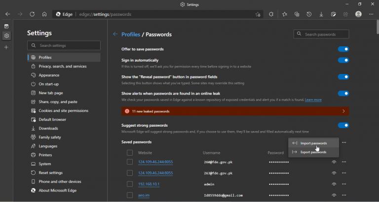 Edge import password (3)