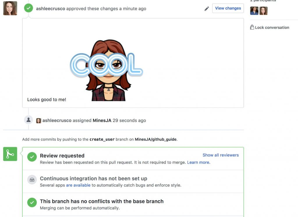 Github submit review