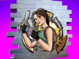 Lara Croft Tomb Raider in Fortnite video game on Xbox Series X