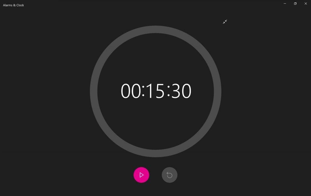 Windows 10's Alarms & Clock app