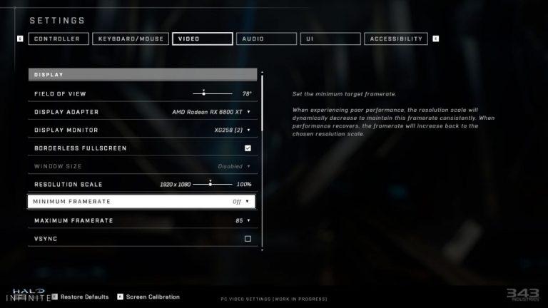Halo Infinite Pc Video Settings