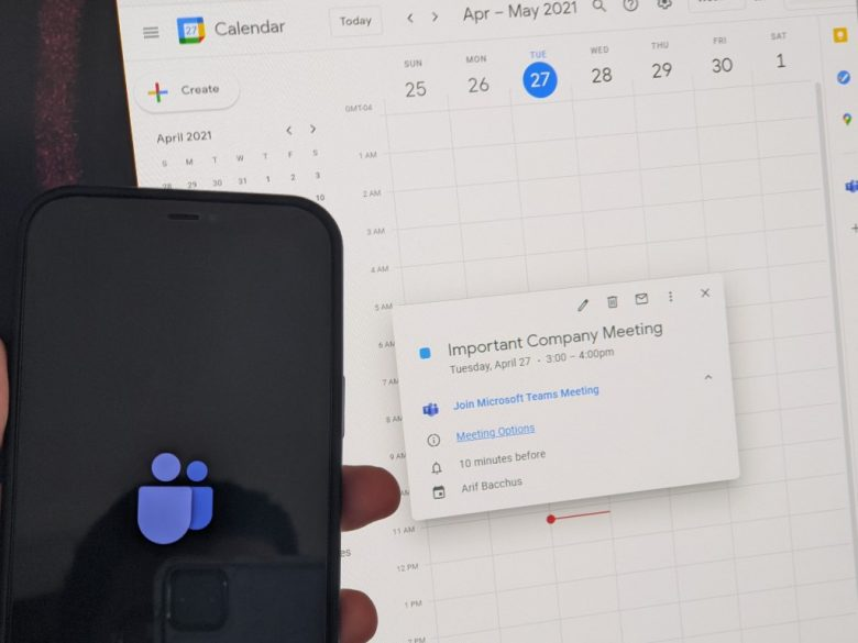 How to easily schedule a Microsoft Teams meeting from Google Calendar