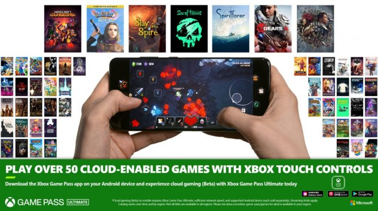 Xbox game pass cloud enabled games supporting touch controls