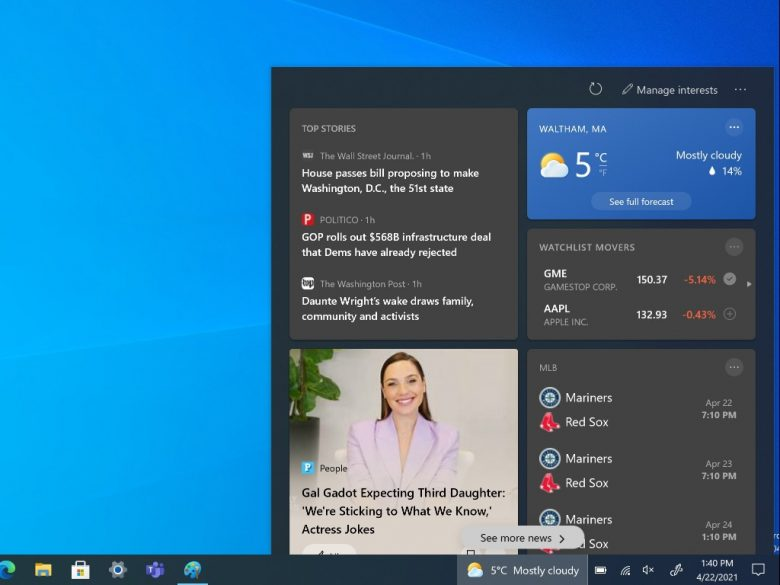 How to easily turn off News and Interests on Windows 10