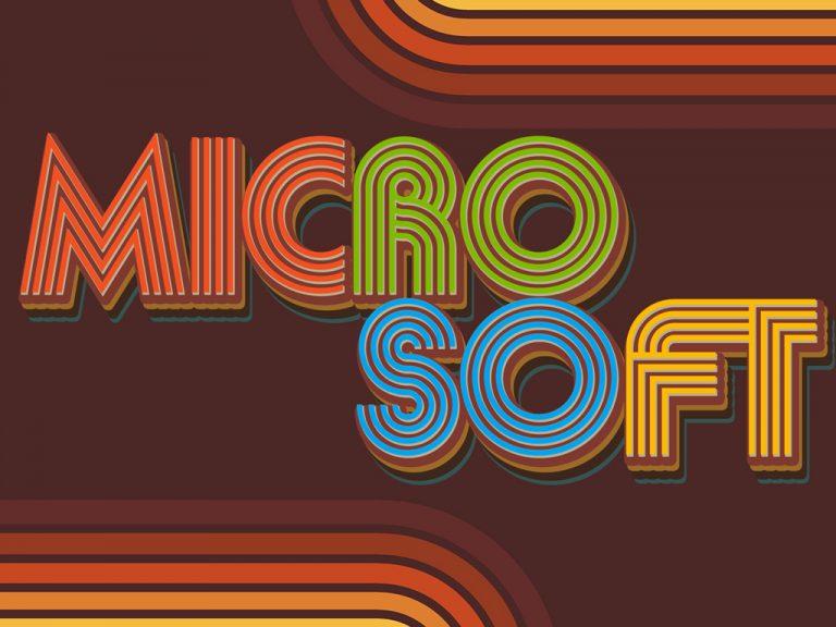 Microsoft 1975 company logo