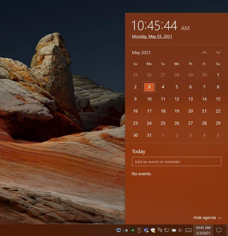 Date And Time Windows Taskbar