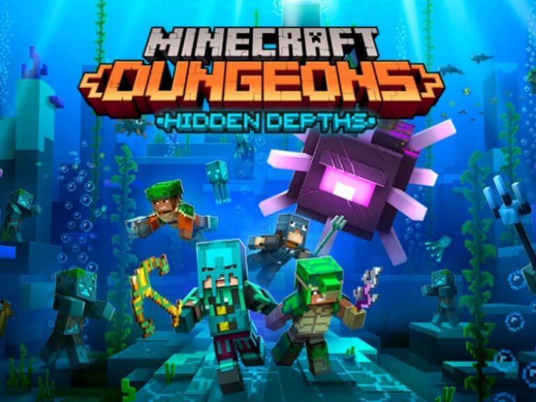 Minecradt dungeons hidden depths dlc