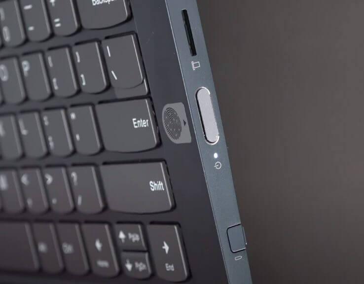 Lenovo-thinkbook-14s-yoga fingerprint