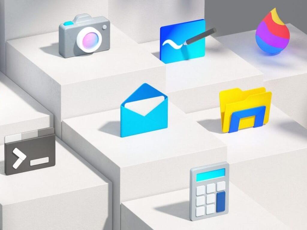 Windows 10 sun valley icons