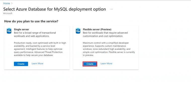 Azure mysql build 2021