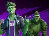 DC Comics' Teen Titan Beast Boy in Fortnite video game on Xbox One and Xbox Series X