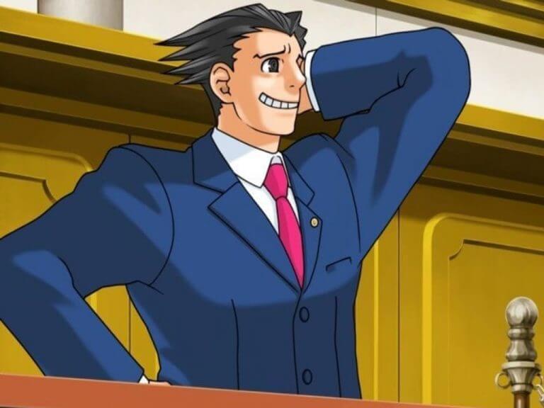 Nintendo phoenix wright video game court room character
