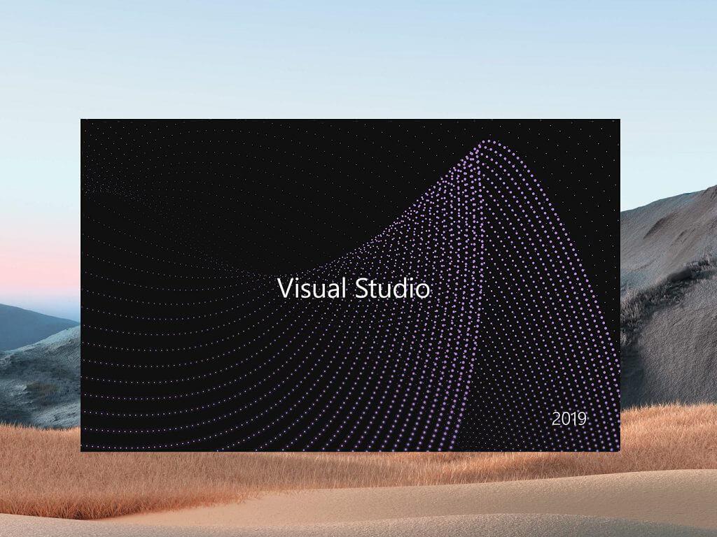 Visual Studio 2019 Splash Screen