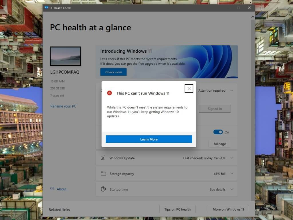 Microsoft starts rolling out pc health check app to windows 10 users - onmsft. Com - october 25, 2021