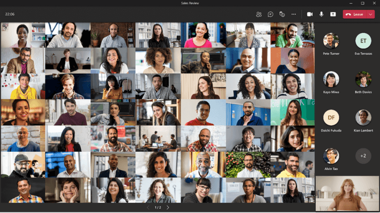Microsoft teams meetings are getting chat bubbles and 98-person gallery view - onmsft. Com - june 14, 2021