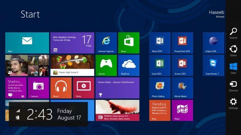 Windows 8 - start menu