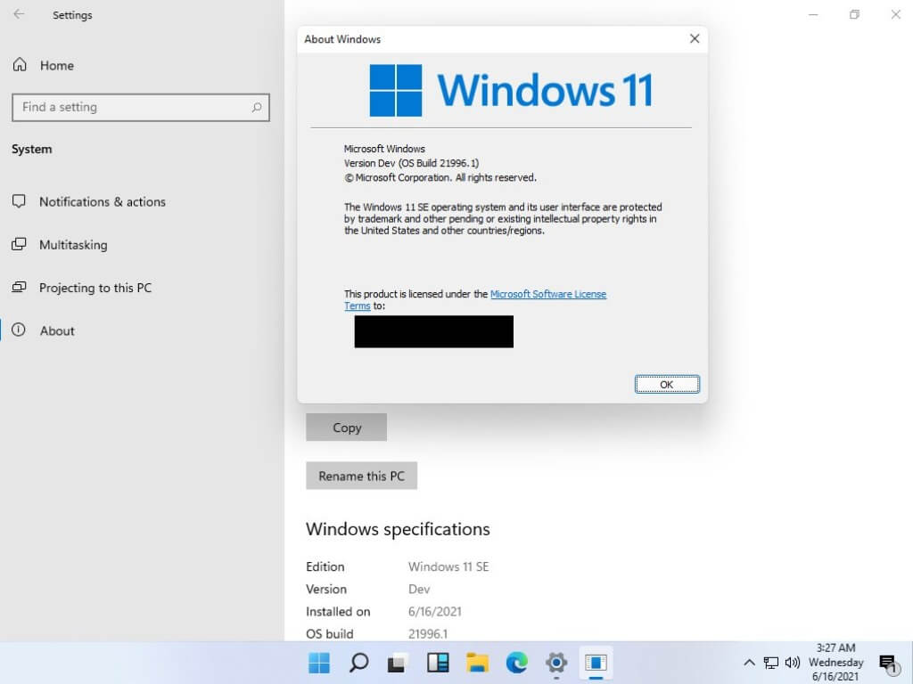 """Locked-down windows 11 """"se"""" sku has been spotted in yesterday's leaked build - onmsft. Com - june 16, 2021"""
