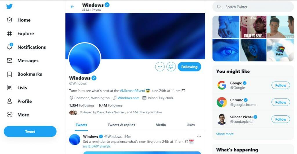 Windows 11 tweet from windows twitter