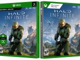 New and old Halo Infinite vidoe game boxart and case