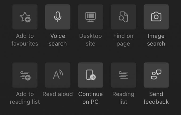 Continue on pc feature in ios edge app
