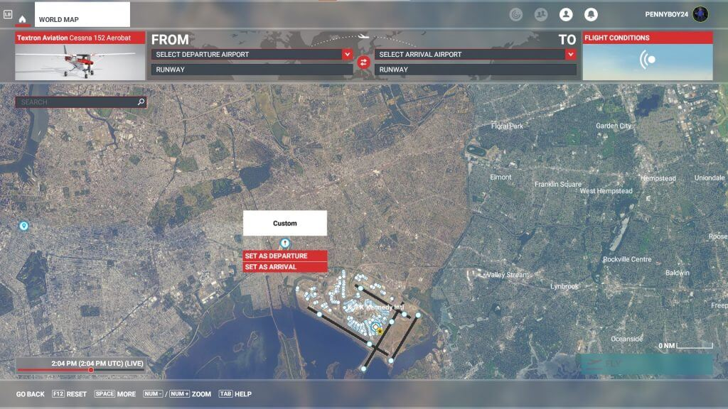 Microsoft flight simulator mini map.