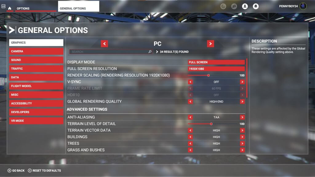 Microsoft flight simulator graphics settings