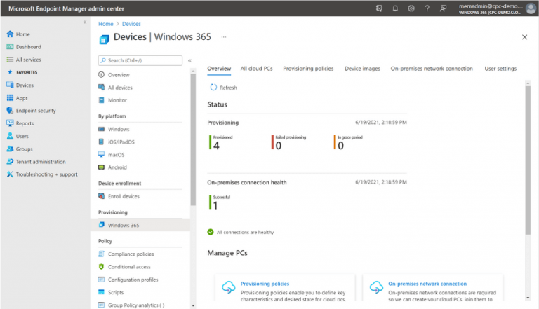 Microsoft-endpoint-manager-windows-365