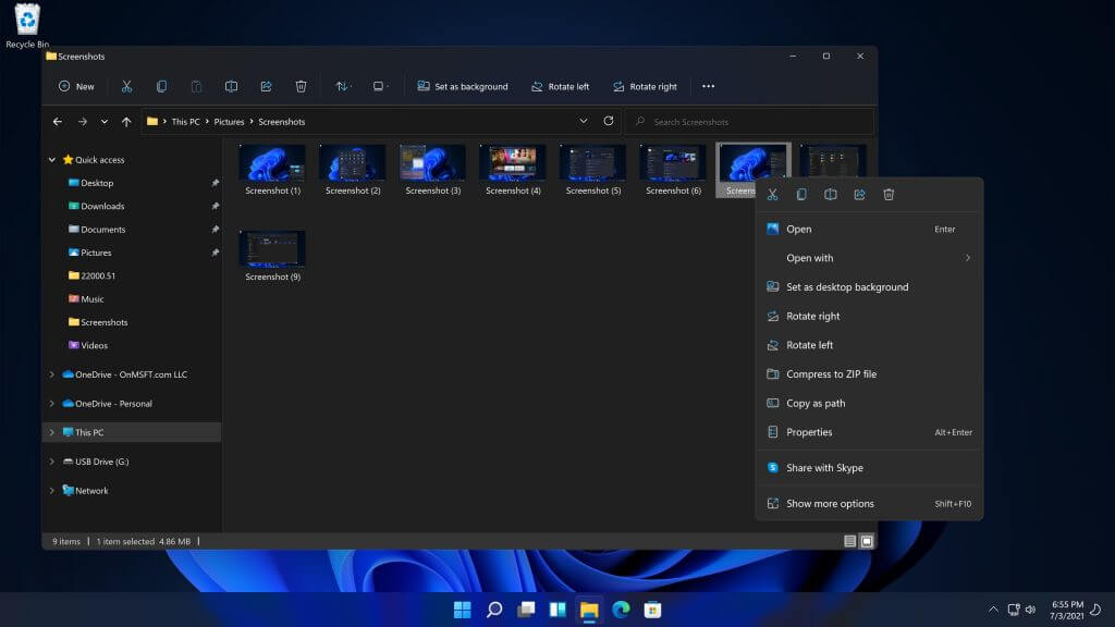 Hands-on video: refreshed user interface in windows 11 dev channel build 22000. 51 - onmsft. Com - july 4, 2021