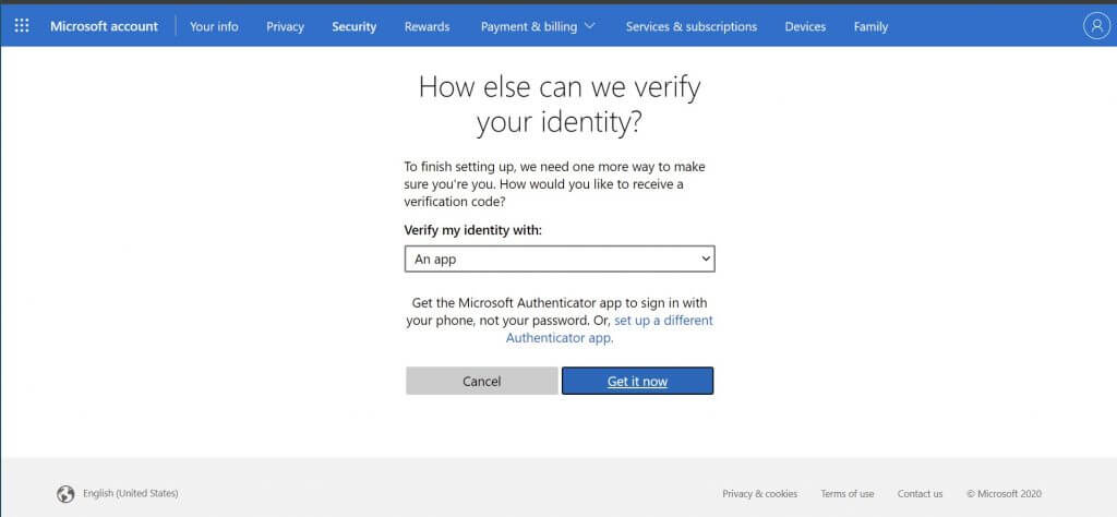 How to enable two-step verification and protect your microsoft account on windows 10 - onmsft. Com - august 9, 2021